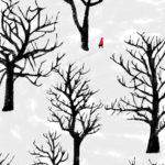 雪の森の赤い少女